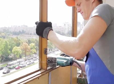 Демонтаж окон, демонтаж балкона или лоджии