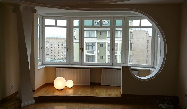 Объединение балкона с комнатой  «под ключ»