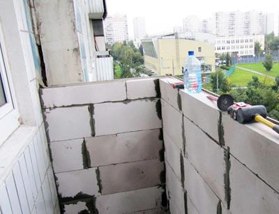 Монтаж или укрепление парапета балкона