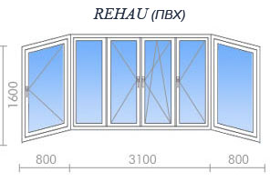 Остекление балкона rehau