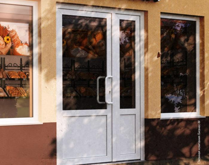 Двери входные - ПВХ со стеклопакетом