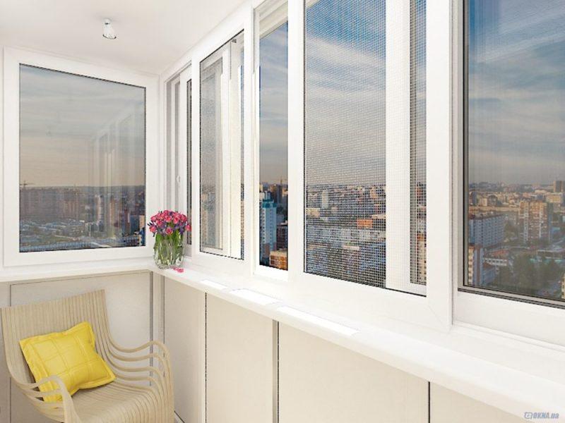Алюминиевые окна на лоджию