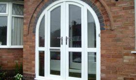 Пластиковые двери белые пвх арка