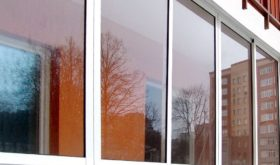 Алюминиевые окна - вид снаружи