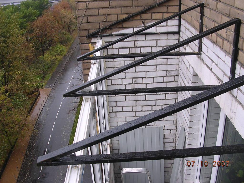 Сварные крыши на балкон и лоджию