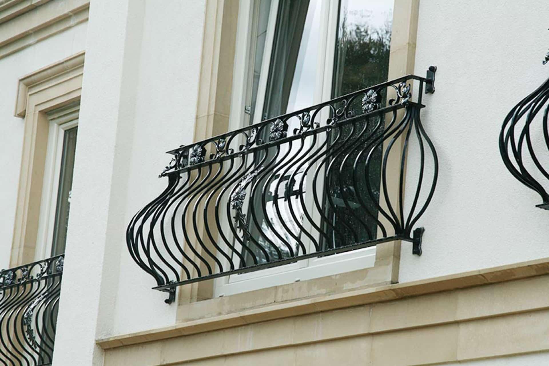 Французский кованый балкон - Без площадки